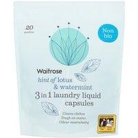 Waitrose Laundry Capsules Non Bio Lotus & Watermint