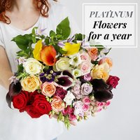 Flowers For A Year | Platinum Collection - flowers - Flower Bouquet Gifts
