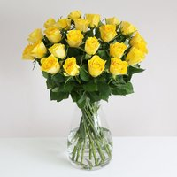 24 Fairtrade Yellow Roses - flowers - Flower Bouquet Gifts