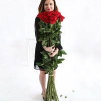 24 of The World's Largest Roses, Cristal & iPad - flowers - Arena Flowers Gifts