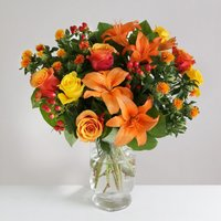 Autumn Rose & Lily - flowers - Arena Flowers Gifts