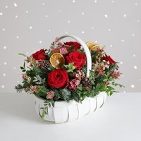Traditional Christmas Basket - flowers - Arena Flowers Gifts