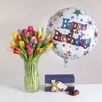 Spring Happy Birthday Gift Set - flowers - Arena Flowers Gifts