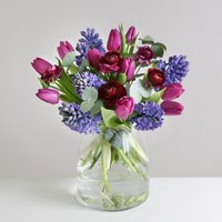 Indigo Tulips and Hyacinths - flowers - Arena Flowers Gifts