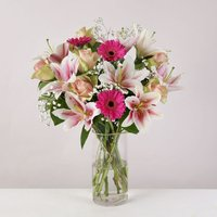 Pretty Pink Bouquet - flowers - Pretty Gifts
