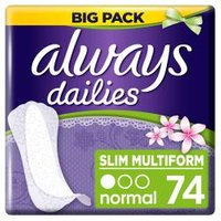 Always Flexistyle Fresh Panty Liners 74 Pieces