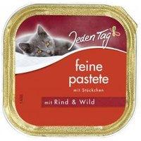Jeden Tag Katze Feine Pastete Rind & Wild