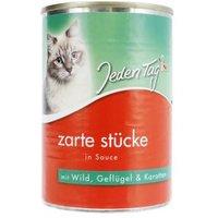 Jeden Tag Katze Zarte Stücke in Sauce Wild, Geflügel & Karotten