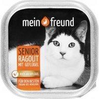 Mein Freund Katze Senior Ragout mit drei Sorten Geflügel in Sauce