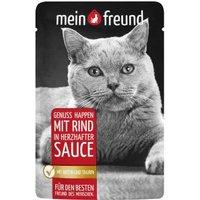 Mein Freund Katze Genuss Happen mit Rind in herzhafter Sauce