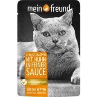 Mein Freund Katze Genuss Happen mit Huhn in feiner Sauce