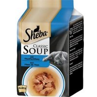 Sheba Soupe avec filets de thon pour chat 4x40g