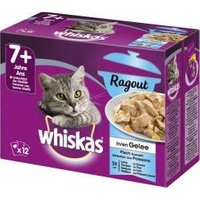 Whiskas 7+ Ragout Fischauswahl in Gelee