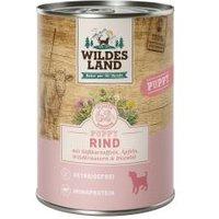 Wildes Land Hund Puppy Rind mit Süßkartoffeln, Äpfeln, Wildkräutern & Distelöl
