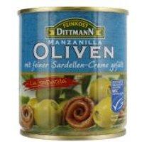 Dittmann Oliven grün mit feiner Sardellen-Creme