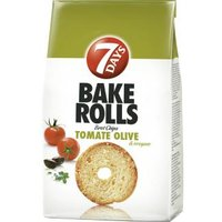 7 Days Bake Rolls Brot Chips Tomate Olive & Oregano