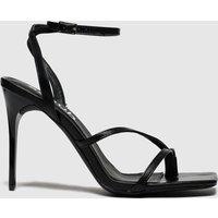 'Schuh Black & Silver Adore High Heels