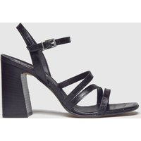 Schuh Black Complex Strappy Sandal Low Heels