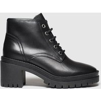 Schuh Black Interest Leather Lace Up Boots