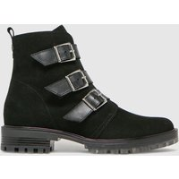 Schuh Black Anise Suede Multi Buckle Boots