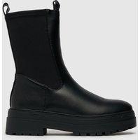 Schuh Black Amore High Cut Stretch Chunky Boots