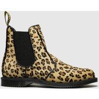 Dr Martens Beige & Brown Kensington Flora Chelsea Boots