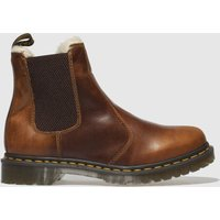 Dr Martens Tan Leonore Fur Lined Chelsea Boots