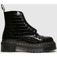 Dr Martens Black Sinclair Croc Boots