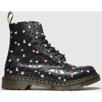 Dr Martens Black & White 1460 Pascal Hearts Boots