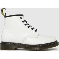Dr Martens White 101 Yellow Stitch Boots
