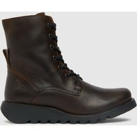 Fly London Brown Sers Lace Up Boots