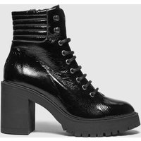 Schuh Black Ashton Chunky Leather Lace Up Boots