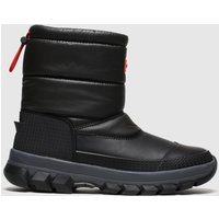 Hunter-Black-Insulated-Snow-Boot-Short-Boots