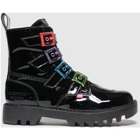 Kickers Black Kizzie X Confetti Crowd Boots