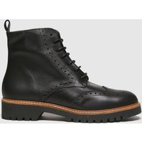 Red Or Dead Black Robin Leather Brogue Lace Up Boots