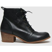 Red Or Dead Black Revision Leather Lace Up Boots