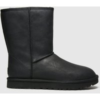 UGG Black Classic Short Ii Leather Boots