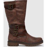 Blowfish Malibu Dark Brown Renae-b Hi Leg Vegan Boots