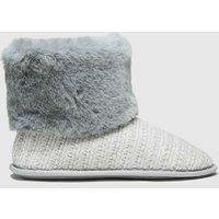 Schuh Grey Hannah Faux Fur Slipper Slippers