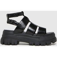 Buffalo London Black Aspha Vegan Sandals