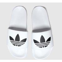 Adidas-White-and-Black-Adilette-Lite-Slide-Sandals