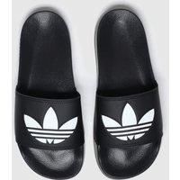 Adidas-Black-and-White-Adilette-Lite-Sandals