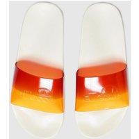 Ellesse White & Orange Filippo Fade Sandals