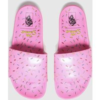 Vans-White-and-Pink-Slideon-The-Simpsons-Sandals