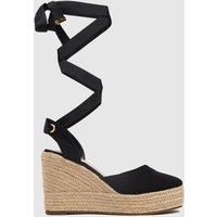 Schuh Black Vertigo Closed Toe Espadrille Sandals