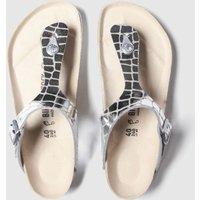 BIRKENSTOCK Silver Gizeh Gator Gleam Sandals