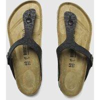 BIRKENSTOCK Black Gizeh Toe Thong Sandals