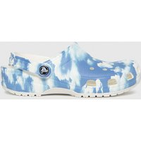 Crocs-White-and-Blue-Classic-Clog-Sandals