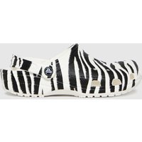 Crocs-Black-and-White-Classic-Clog-Animal-Sandals