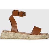 Schuh Tan Victoria Espadrille Buckle Sandals